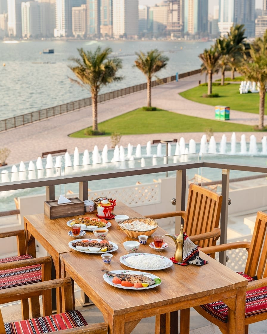 Al Fanar Al Majaz outdoor seating