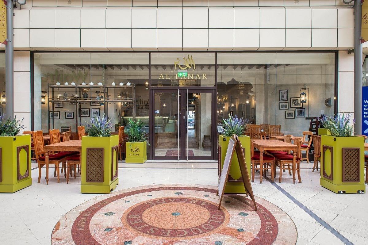 Al Fanar London Waitrose arcade Seating